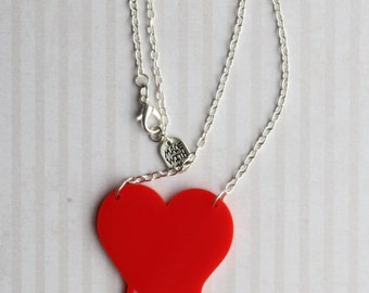 Red Bleeding Heart Necklace