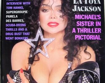 Playboy March 1989 in original mailer Latoya Jackson excellent condition