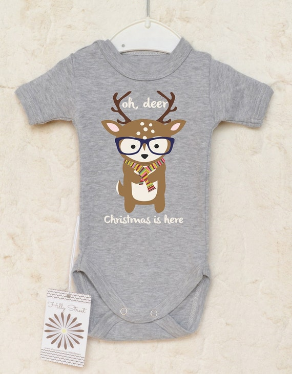 Christmas Baby Clothes Reindeer Baby Romper Oh by
