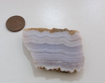 Namibian Blue Lace Agate rough slab Blue Lace Agate slab