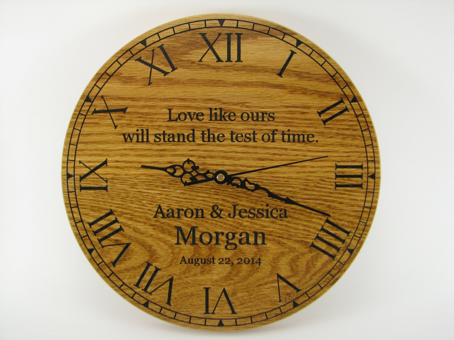 Wedding Gift Clock: Wedding Shower Gift Personalized Clock Engraved Perfect Great