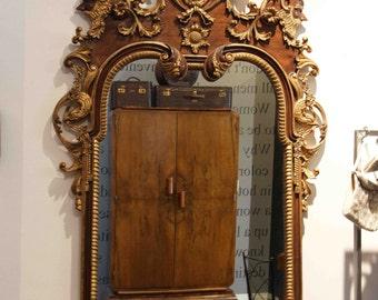 Spectacular Gilded Art Nouveau Italian Mirror
