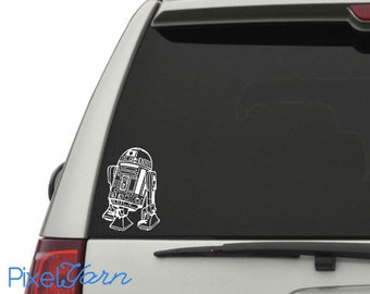 R2D2 Car Decal 6""