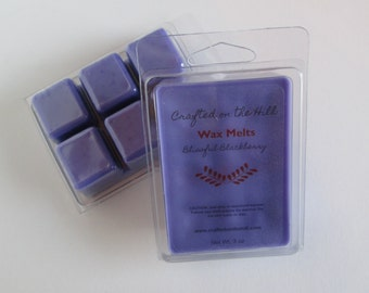 Blissful Blackberry Wax Melts, Highly Scented Wax, Soy Blend