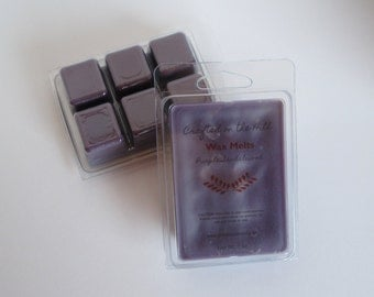 Purple Sandalwood Wax Melts, Highly Scented Wax, Soy Blend