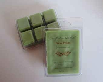 Oakmoss Sage Wax Melts, Highly Scented Wax, Soy Blend