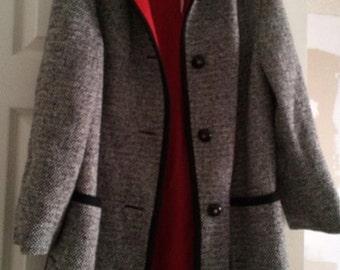 Vintage, Penguin, Wool Tweed Coat