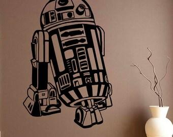 R2-D2 Vinyl Decal Star Wars Wall Sticker Comics Wall Decals Wall Vinyl Decor /4mkl/