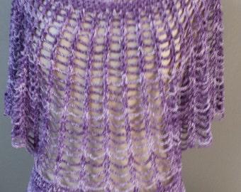 Circle tunic purple size L