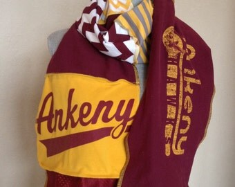 Ankeny Hawks Scarf, Hawks Tshirt Scarf, Ankeny Hawks Tshirt Scarf, ANK2