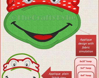 Teenage Mutant Ninja Turtles Applique Machine Embroidery Designs 4x4 5x7 6x10 hoop