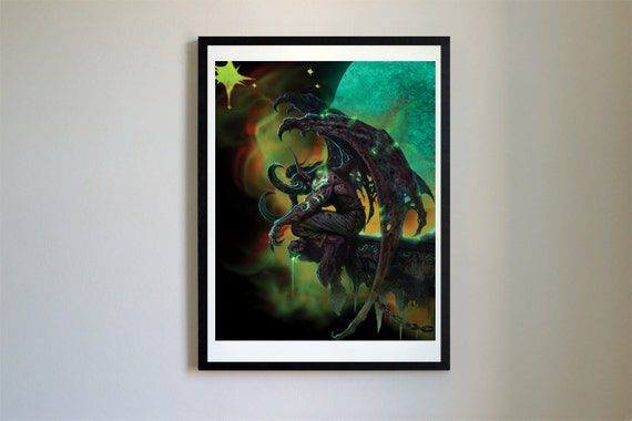 Illidan Original Art Print