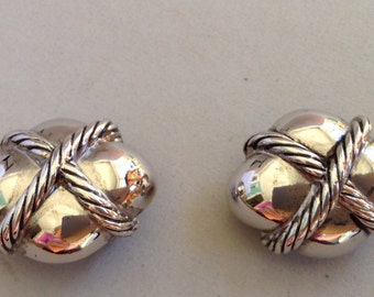 Erwin Pearl Silver Tone Clip Earrings