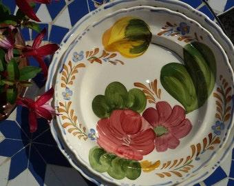 Set of 2 Belle Fiore Chanticleer Ware Plates