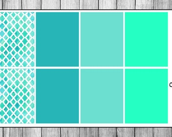 Teal Motif Decorative Full Boxes