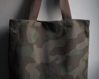 Cotton Camouflage Shopping Tote Bag