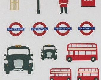 London Themed Sticker Sheet
