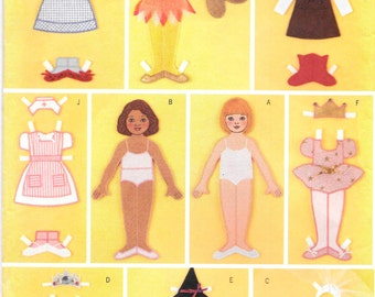 "Butterick Sewing Pattern 3280 Uncut - Fabric ""Paper"" Doll & Clothes **Free Shipping**"