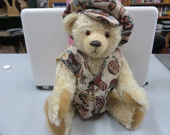 Cream Coloured German Mohair Teddy Bear