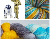 These Aren't the Droids You're Looking For Hand Painted Superwash Merino Wool/Nylon 462 Yards