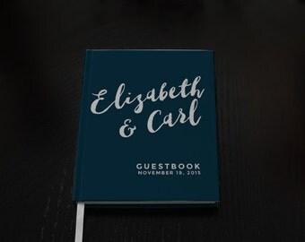 Wedding Guest Book - Wedding Guestbook - Custom Guest Book - Personalized Guestbook - Nautical Wedding Keepsake - Navy Guestbook
