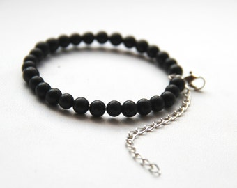 Shungite bracelet against EMF 30 beads of 6 mm, shungite beads, EMF bracelet SB02