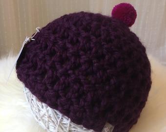 Crochet Children's Hat, Crochet Pom Pom Hat, Crochet Toddler Hat, Crochet Children's Winter Hat, Crochet Kid's Hat