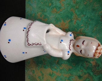 "De Lee Arts Co. Ceramic Figurine Planter ""Irene"""
