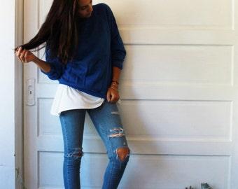 Vintage blue oversized sweatshirt