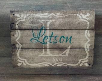 Family Name Established Sign - Family Name Sign - Home Established Sign - Last Name Est Sign  - Rustic Sign - Wooden Established Sign