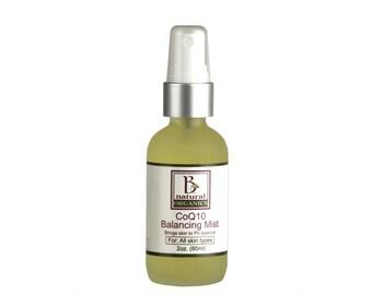 Organic Facial Toner - CoQ10 Balancing Mist - 2 oz (60 ml)
