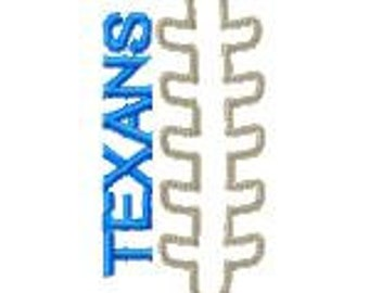 Texans football embroidery design