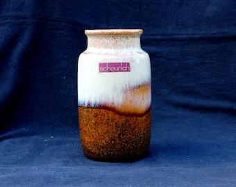 Mid-century Scheurich vase 231-15 W . Germany, lava glaze in in earthtones