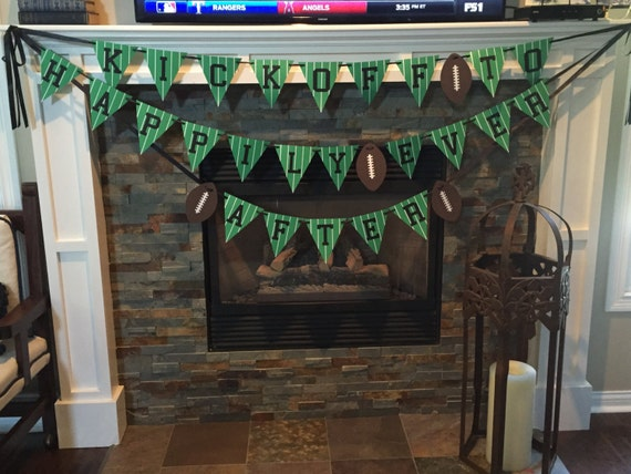 Kickoff To Happily Ever After Banner Bridal Shower Football
