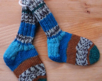 Socks / stockings in washable wool 4 1/4 inches or 11 cm