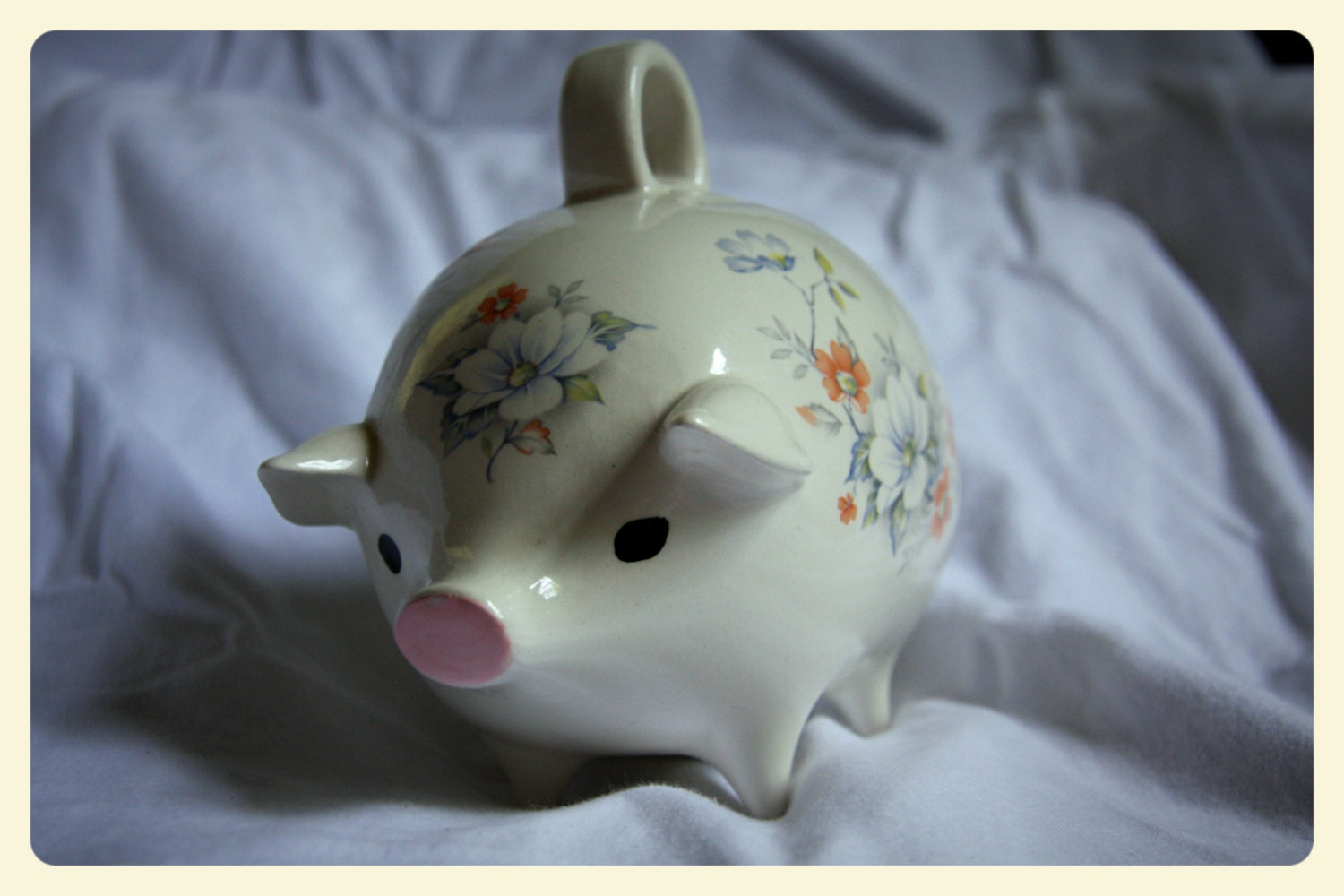 On Sale Antique Porcelain Piggy Bank By Telegnosis On Etsy