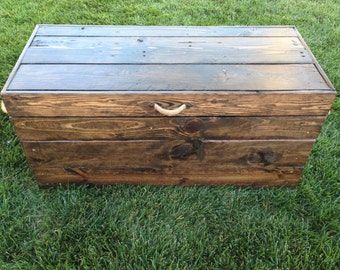 Custom Toy Box-Large Stained Custom Toy Box- Stained Childrens Toy Box- Stained Hope Chest-Childrens Toy Box- Hope Chest-Large Toy Box