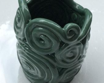 Green Coil Pottery: Home Decor