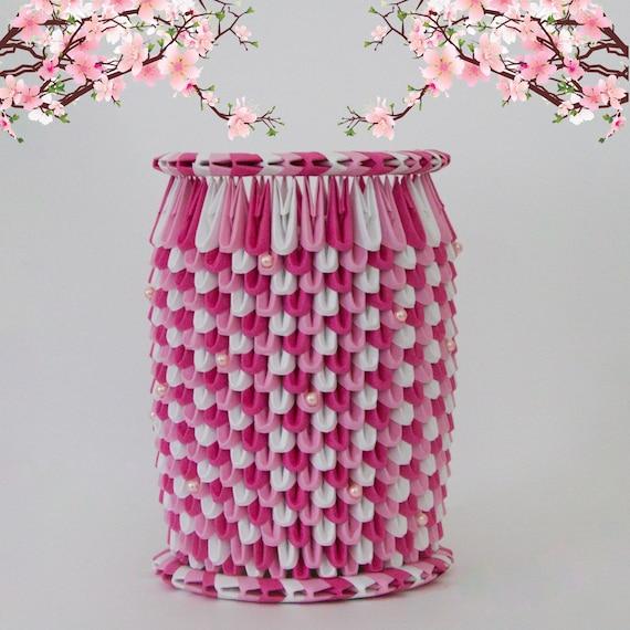 Items Similar To Sakura Cherry Blossoms 3D Origami Vase W
