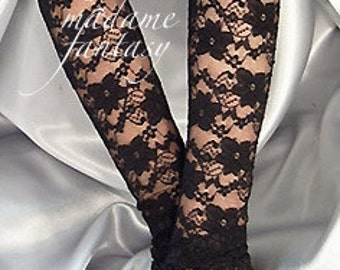 XX Long lace fingerless gloves lace cuffs arm warmers