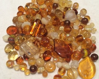 Czech Glass Bead Mix, Topaz Mix, 00010, 50 Grams