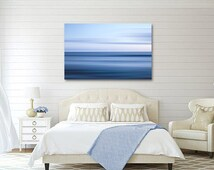 Large Abstract Ocean Breeze Canvas Wrap, Blue White Nautical Ocean Canvas, Abstract Seascape Art, Seascape Canvas Print, Ocean Wall Decor