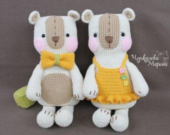 "Crochet toy pattern ""The Bear for embrace"" PDF"