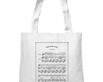Mintage Vintage Music Sheet Super-Soft Heavyweight Tote Bag