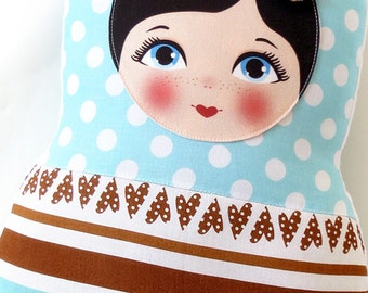 "Babushka matryoshka softie plush doll pillow gift, large, 42cm/16.5"" tall"