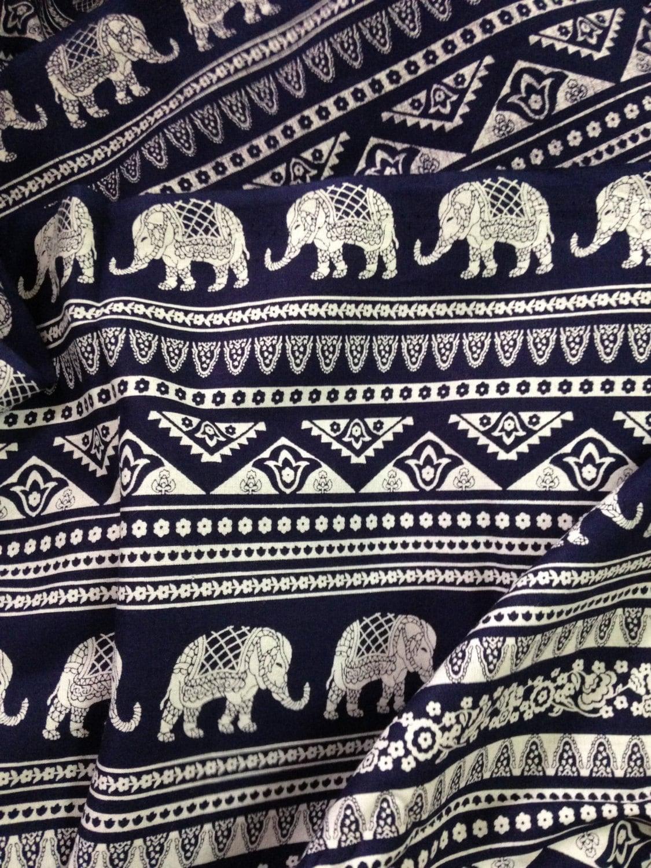 Elephant print fabric boho fabric alternate elephant print for Elephant fabric