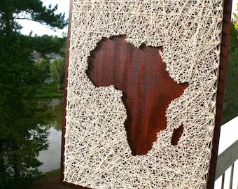 Africa String Art   Africa Art   Map of Africa