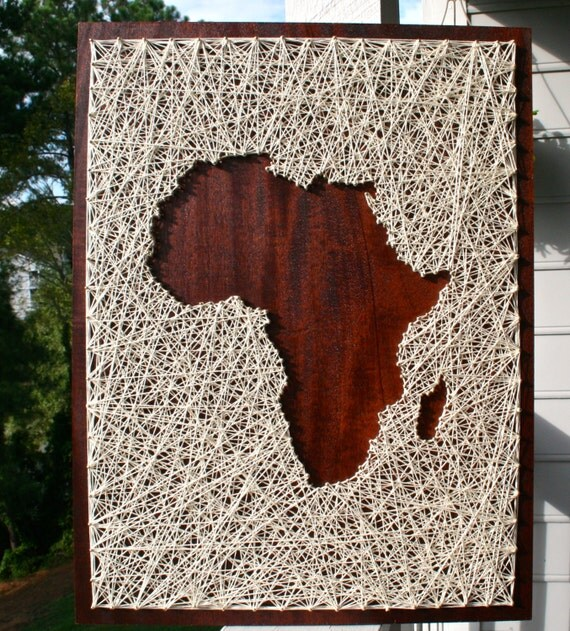 Africa String Art Africa Art Map of Africa Map String