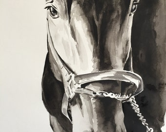 Large horse painting CUSTOM PAINTING. Please ask if you would like a painting of your own horse.