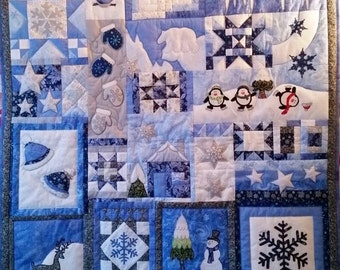 Winter Magic eBook - Quiltmuster with 24 blocks - Sofortdownload